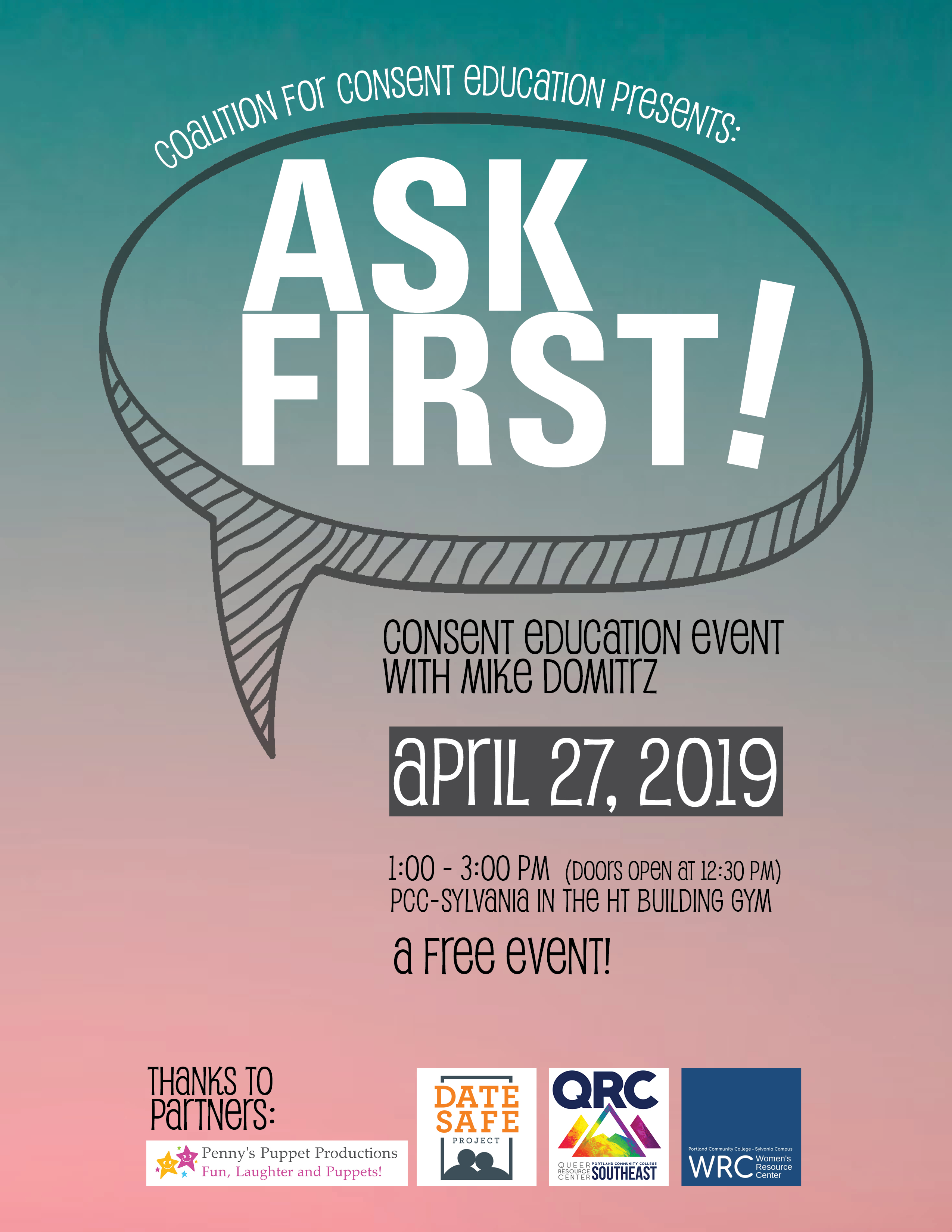 Ask First! Free Consent Education Event